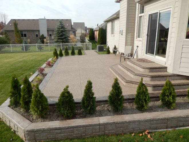 Exposed aggregate patio macomb township