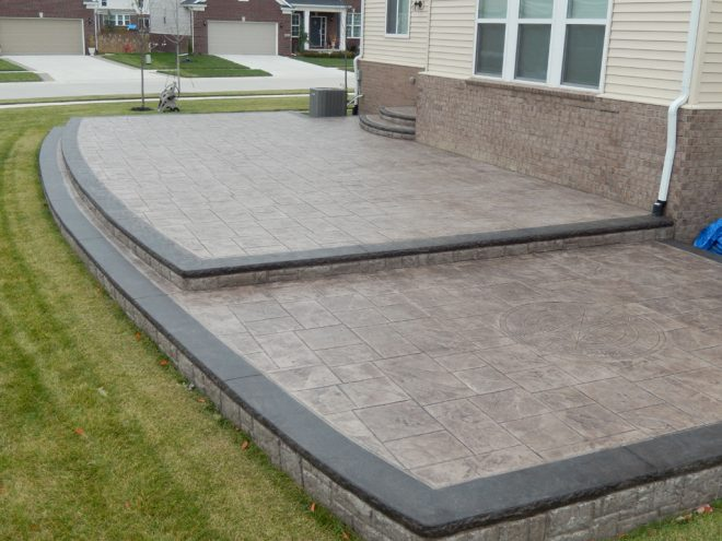 oakland county stamped concrete patio installer