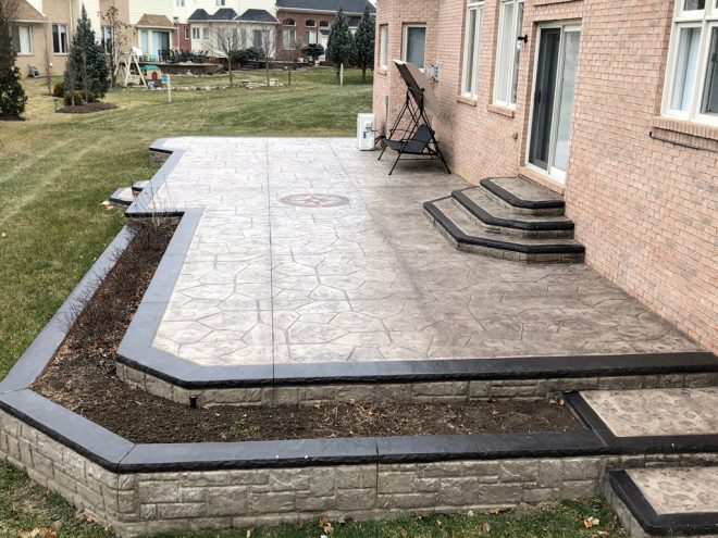 Stamped concreate patio contractor washington township