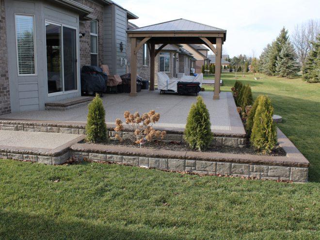 Exposed Aggregate Concrete patio installer