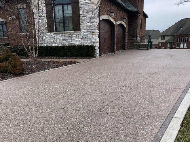 Exposed Aggregate Concrete Driveway Installation